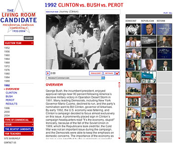 Living Room Candidate: A History Of Presidential Campaign Commercials,  1952 2000
