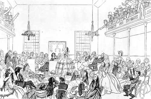 first women's rights convention, held in Seneca Falls, New York in 1848.
